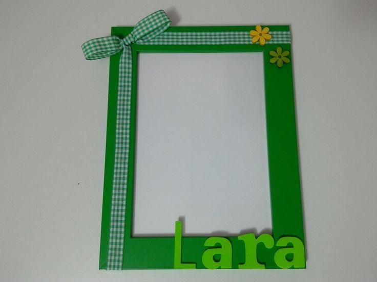 cornice portafoto fatta a mano personalizzabile con il nome dei vostri bambini