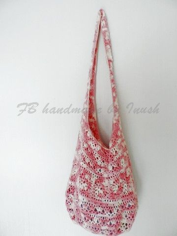 crochet bag made of 100% cotton I love this bag, a beautiful old pink color, delicate pattern suitable to the city and to the beach, pleasant to the touch ♥