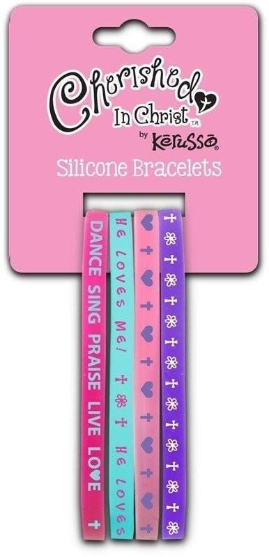 Dance Sing Praise Silicone Bracelet Set