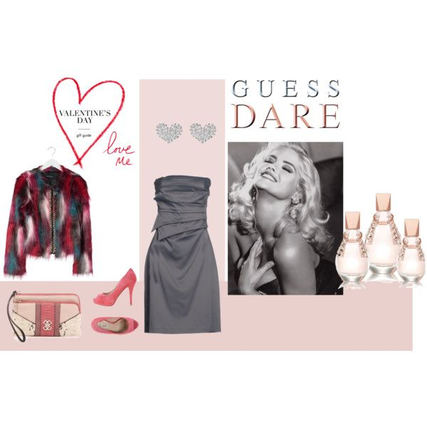 Heat Up Your Valentine's Day with GUESS DARE: Contest Entry by bazso-adrien on Polyvore featuring GUESS by Marciano and GUESS