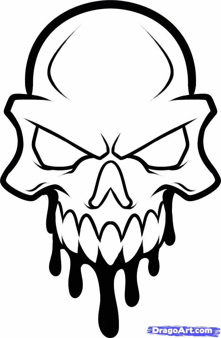 Skull Line Drawing Easy : Best how to draw skulls ideas on pinterest simple
