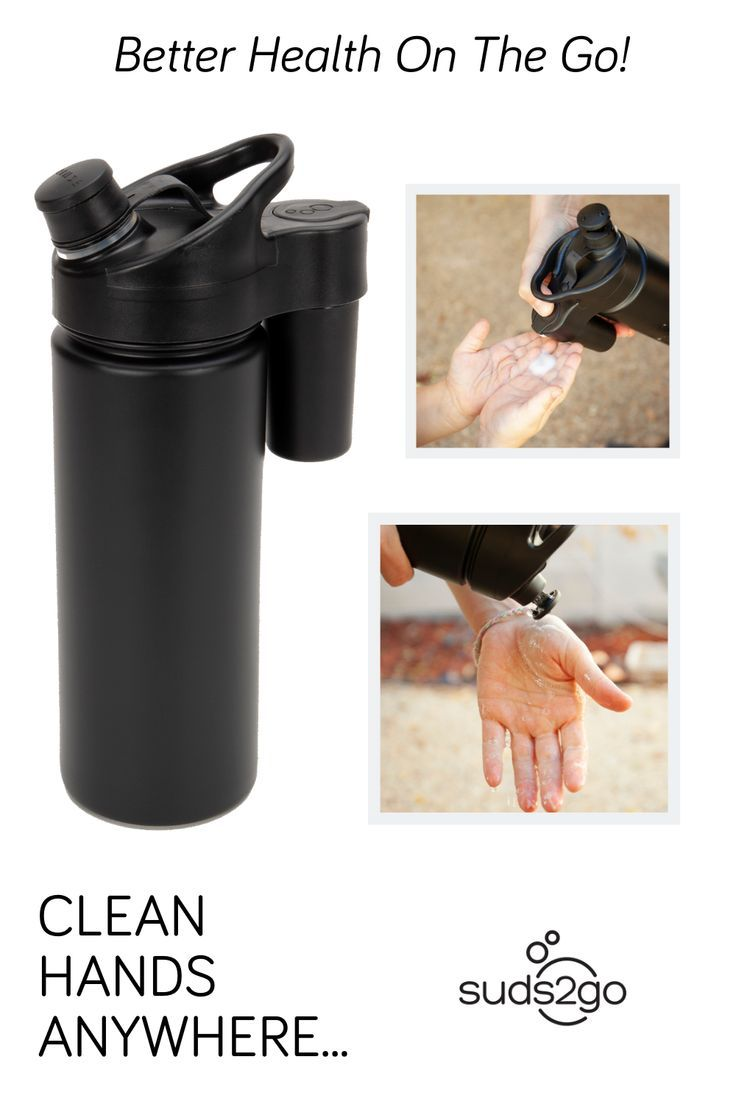 Suds2go The Portable Hand Washing Sports Bottle Hydrate Your