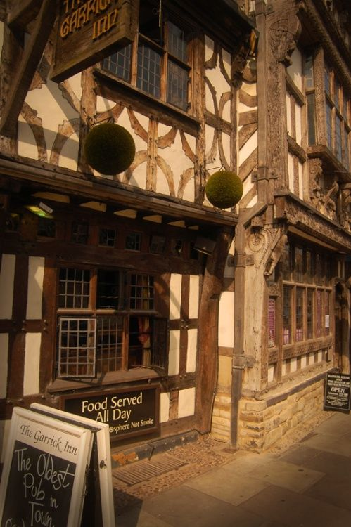 The Garrick Inn, Stratford-Upon-Avon, Warwickshire, is the oldest pub in Stratford and dates to the 14th century.