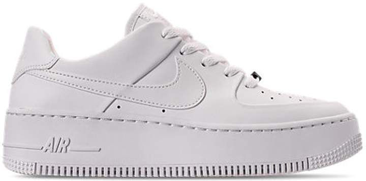 Nike Air Force 1 Sage Low Triple White W In 2021 White Nike Shoes Womens Nike Air Nike Air Force