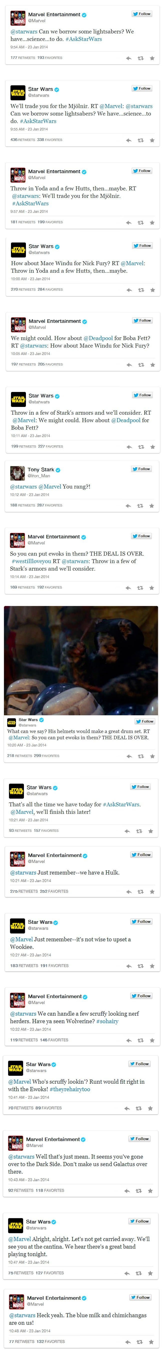 Star Wars and Marvel Just Had the Geekiest Twitter Fight So Far This Year