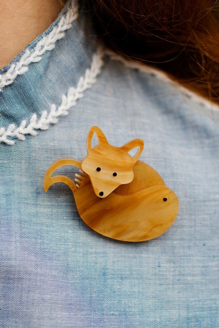 Tatty Devine | Fox Brooch  #tortoiseshell #indie #animals