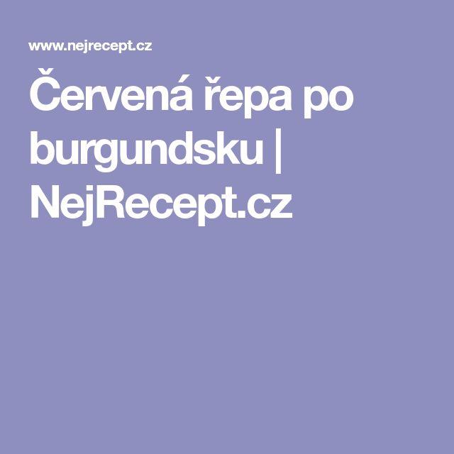 Červená řepa po burgundsku | NejRecept.cz