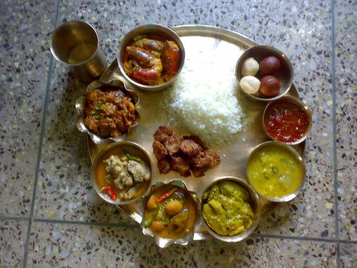 kolkata bengali thali (Non-Vage)