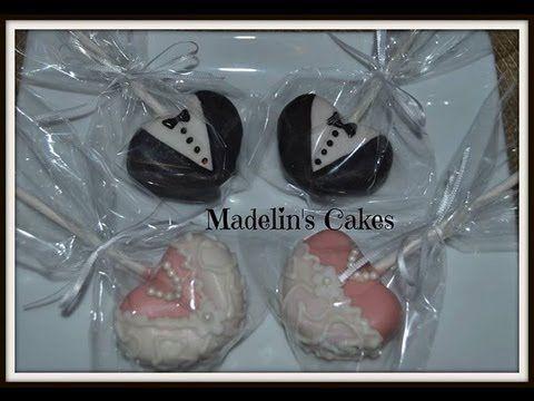 Paletas De Pastel para* BODA NOVIO Y NOVIA HERMOSAS* Cake Pops - Madelin's Cakes - YouTube