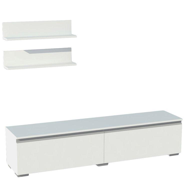 TV stand Iligin TV white 45x160x55,5
