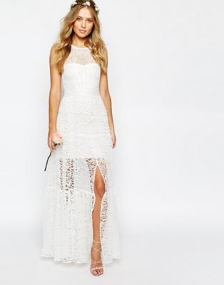 Body Frock Bridal Tiered Lace Dress