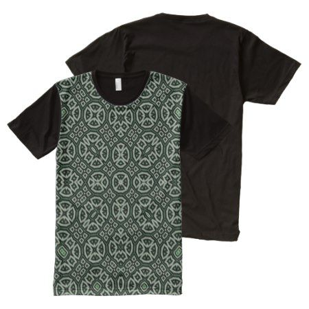 Abstract Pattern green All-Over-Print T-Shirt - click to get yours right now!