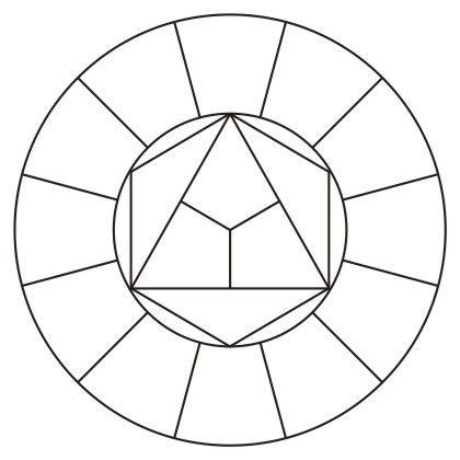 шаблон цветовой круг скачать бесплатно