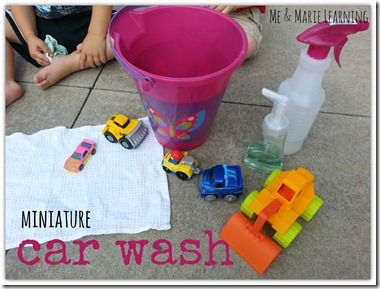 [miniature] CAR WASH: perfect activity for toddlers!