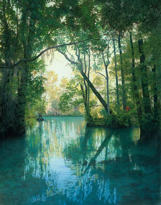3 Sisters Springs Oil Painting 18 Quot X 14 Quot Florida