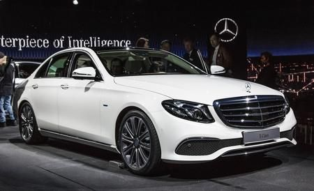 2017 Mercedes-Benz E-class looks like its C- and S-class siblings, but offers even more tech. Read all about the new E-class and see photos at Car and Driver.