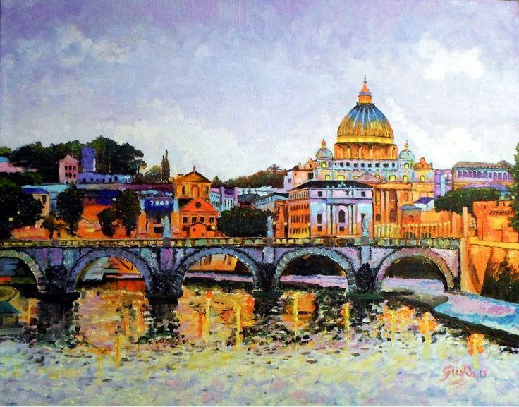 -Roma- Olio su tela  oil on canvas