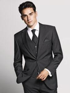 Wedding suit - stripe fabrics