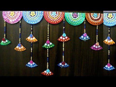 Diwali TORAN/Door Hanging from Waste Plastic Bottles | Door Decorating idea | Best out of waste - YouTube