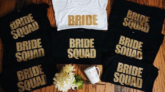 Bride Squad Bundle | Bridesmaid Tees | Bridesmaid Tanks | Maid of Honor t shirts | Bridal Party T shirts