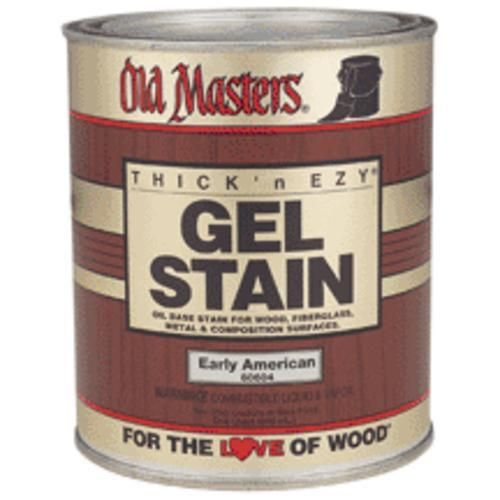 Old Masters Pickling White Gel Stain: Old Masters 80104 Gel Stain Natural Oil-Based, Quart