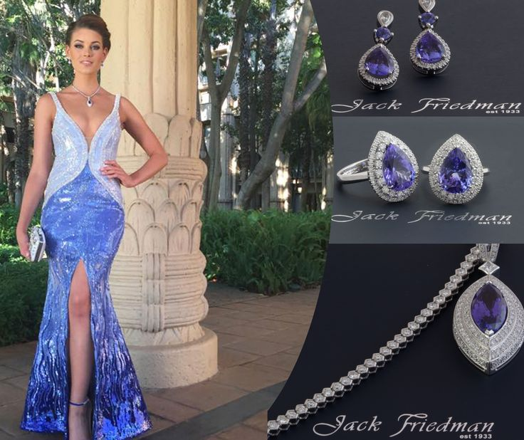 Rolene Strauss, Miss World 2014 wearing exquisite pieces from our Tanzanite collection jackfriedman.co.za