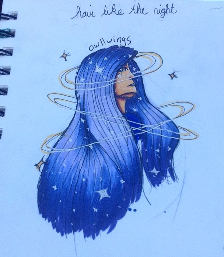 ~she had hair like the night sky and a face that shone like the stars~  @owllwings