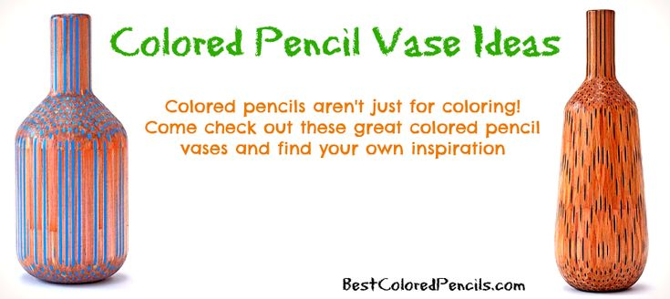 Colored pencils can be used for more than just coloring!  Come check out these amazing colored pencil vases and learn how you can make your own colored pencil vase at home!