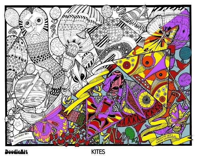 doodleart, doodle art, kids colouring in, adults colouring in, 60 hours of colouring in, doodleart boys mini kit, DoodleArt ~ Girl's Mini Kit
