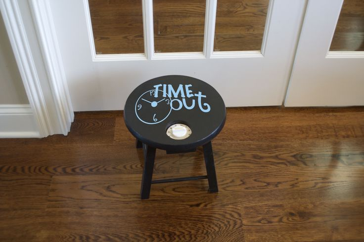 TimeOut Stool.  If you are a mother with young kiddos - you'll definitely want this vinyl design found in the Simply Said catalog.  Click on the link to take you to our website - look in the Mini Design Section page 105 of our large catalog  http://simplysaiddesigns.com/