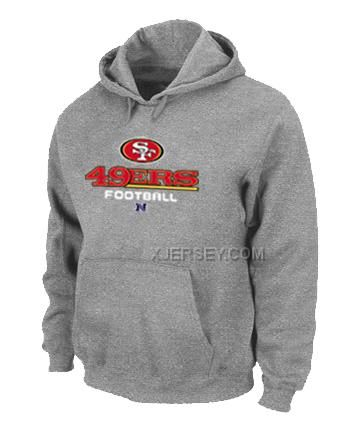 http://www.xjersey.com/san-francisco-49ers-critical-victory-pullover-hoodie-grey.html SAN FRANCISCO 49ERS CRITICAL VICTORY PULLOVER HOODIE GREY Only $50.00 , Free Shipping!