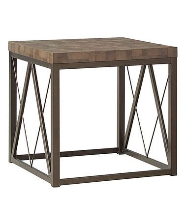 Another great find on #zulily! Bronze Metal Contemporary End Table #zulilyfinds