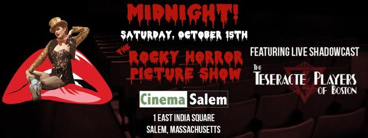 While watching the cult classic film you get to shout, sing, and dance with The Teseracte Players of Boston. Make sure to dress up for...