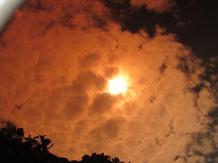 Sun through special lenses.