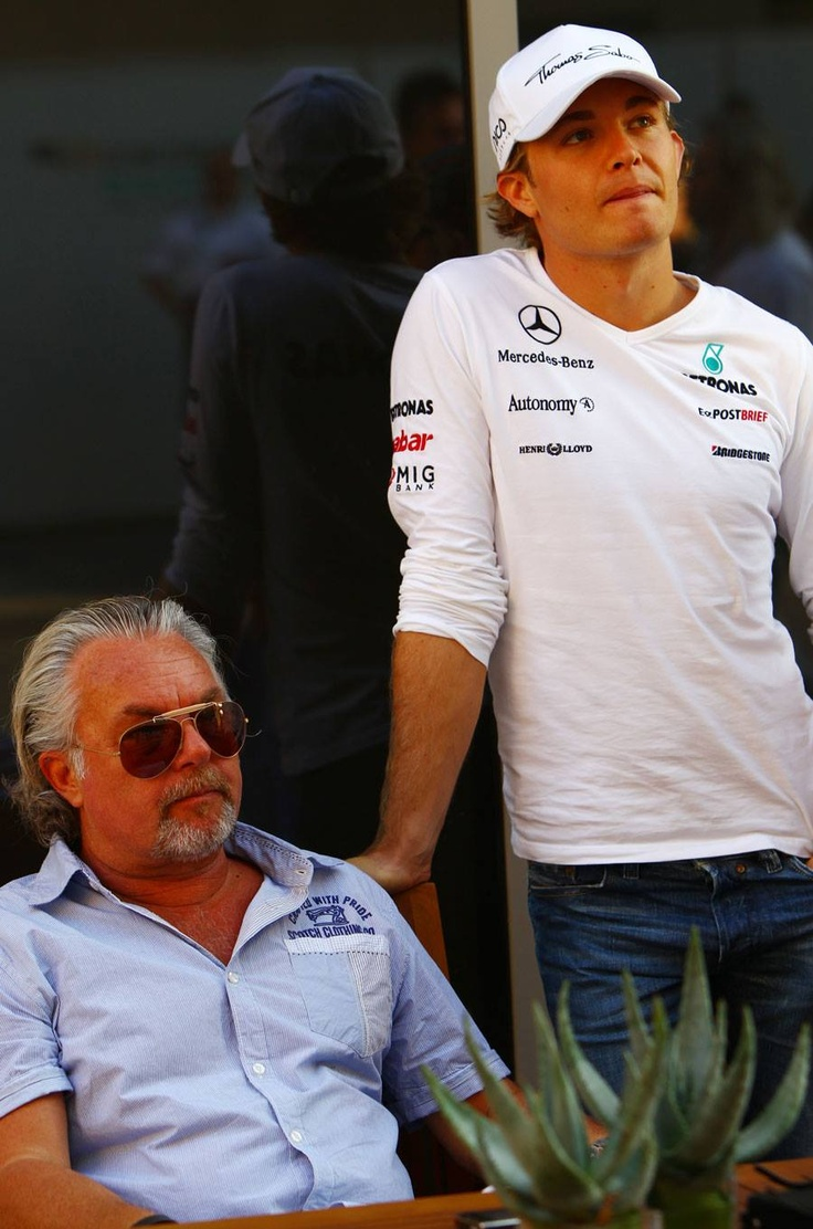Father and Son. 1982 Worls Champion Keke Rosberg and his son Grand Prix winner Nico Rosberg.