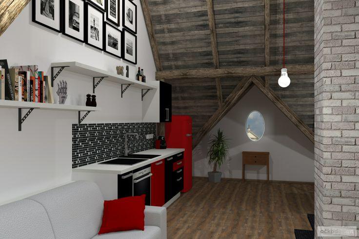 .... kuchyně ve výrazných barvách červené a černé. www.ockodesign.cz