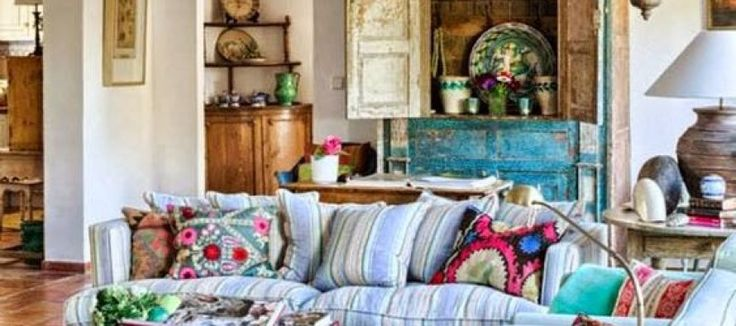 Hippie chic decoration for living