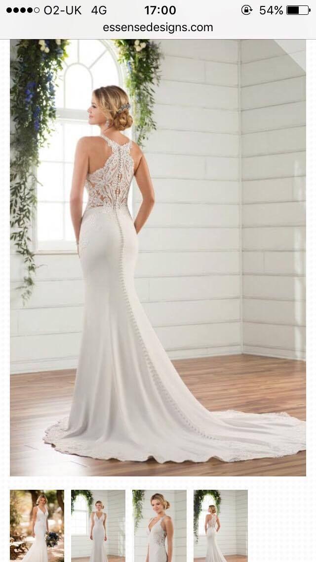 Size 10 12 Essense Of Australia Wedding Dress With Lace Back Detail