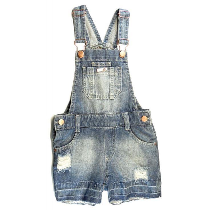 25 melhores ideias de jardineira jeans infantil no for Jardineira jeans infantil c a