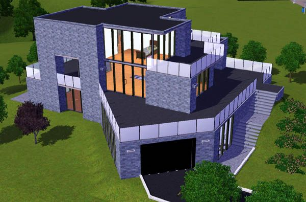1000 ideas about sims3 house on pinterest sims house for Maison moderne sims 4