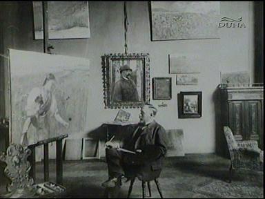 Szinyei Merse Pál, festőművész (műteremben)