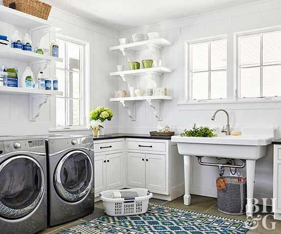 For all its lofty goals of cleanliness and order, the laundry room is very often a place of barely contained chaos.