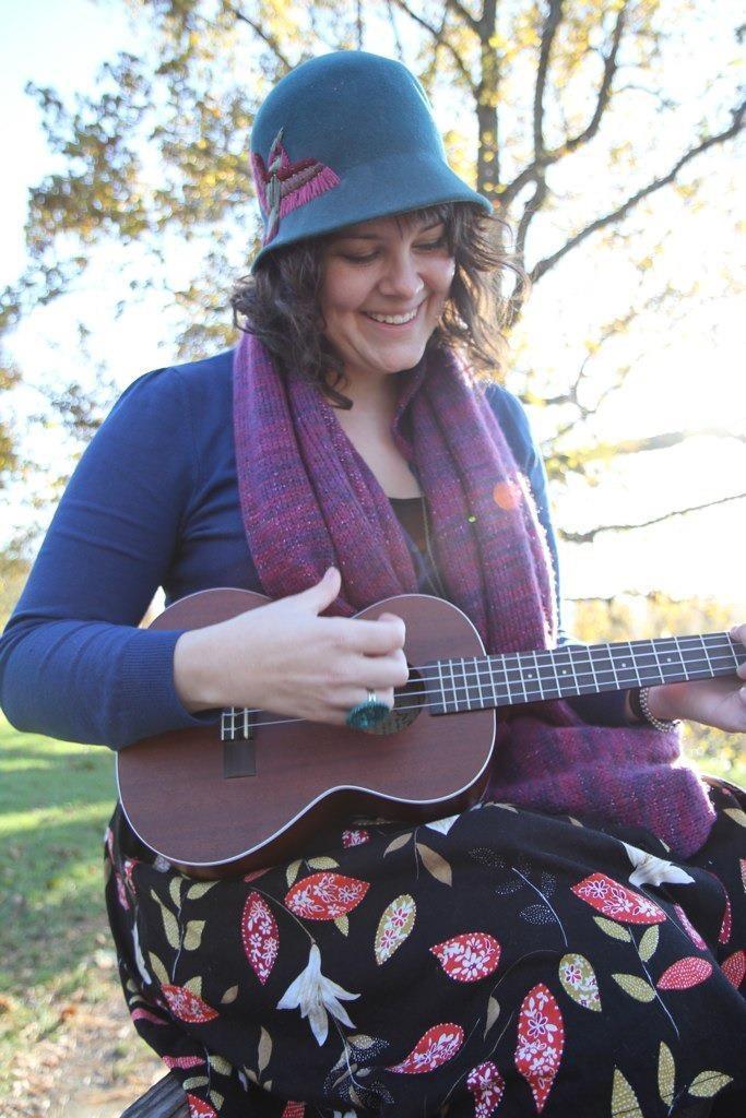 Lanikai ukulele player outdoors