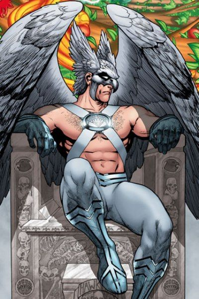 Image of Hawkman (White Lantern) My only wish was that he had drawn Hawkman with more chest hair!!!