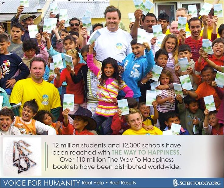 Did you know? 12 million students and 12,000 schools have been reached with The Way To Happiness. Over 110 million The Way To Happiness booklets have been distributed worldwide.
