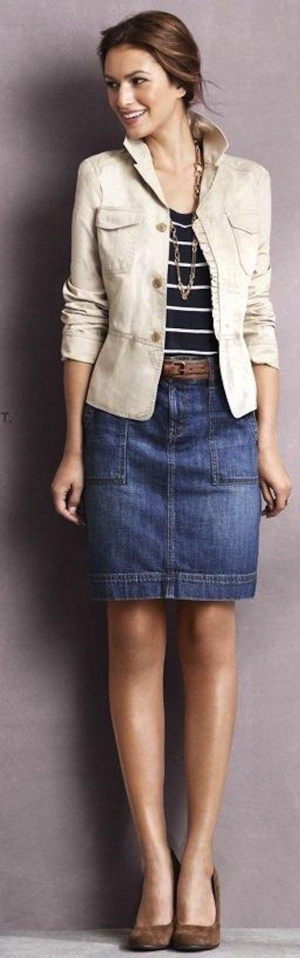 Cómo combinar la falda vaquera: Fotos d elos modelos (37/42) - Ella Hoy