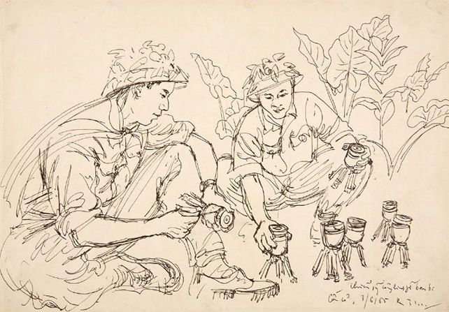Vietnam 1954 – 1975: War Drawings and Posters from the Ambassador Dato' N Parameswaran Collection @ Ng Eng Teng Gallery, NUS Museum (until 03 Apr)