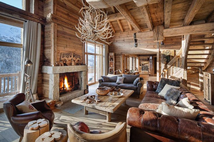 Lustre Bois De Cerf : Luxury Ski Lodge Restaurant