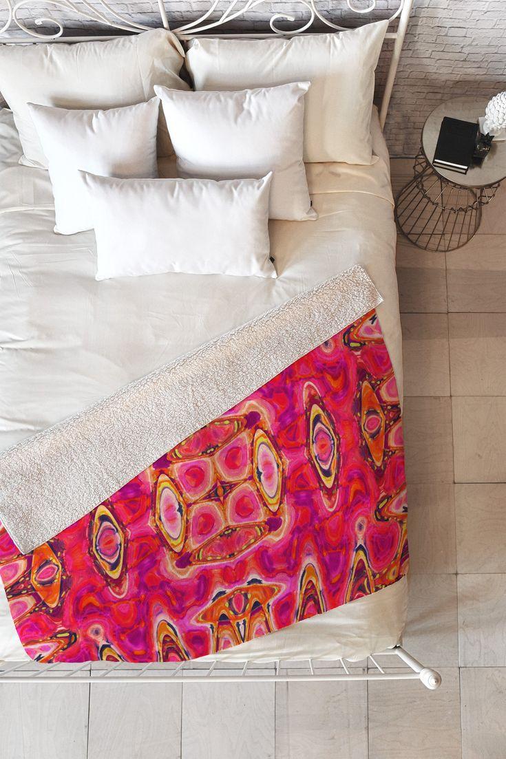 Organza Fleece Throw Blanket Ingrid Padilla