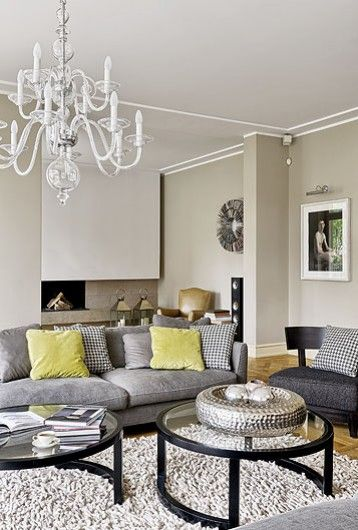 Grey And Yellow Living Room Walls gray and yellow living room. how to easily mix vintage and modern